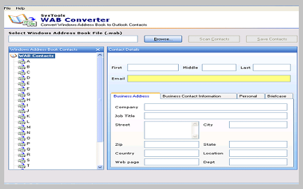 WAB Converter Tool – Export Outlook Express Contacts to PST
